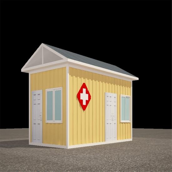 Shipping container healthcare housing