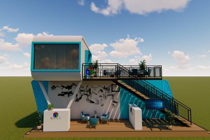 The container house showed on the exihibition of Shanghai